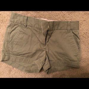 JCREW size 0 chino shorts